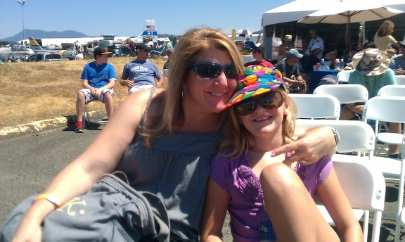 Kerri & Amelia VIP at the airshow