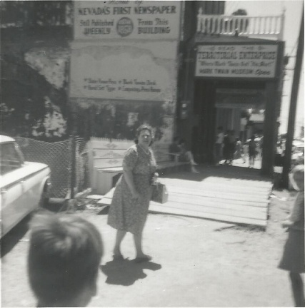 Velma Chrestman in Reno, no date given